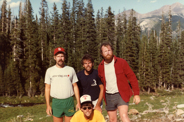 Tom, John, Jack and Bill in the Rockies