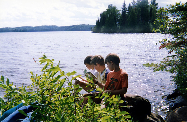reading real books in Algonquin