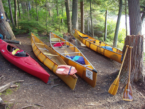 hauled out boats in Algonquin