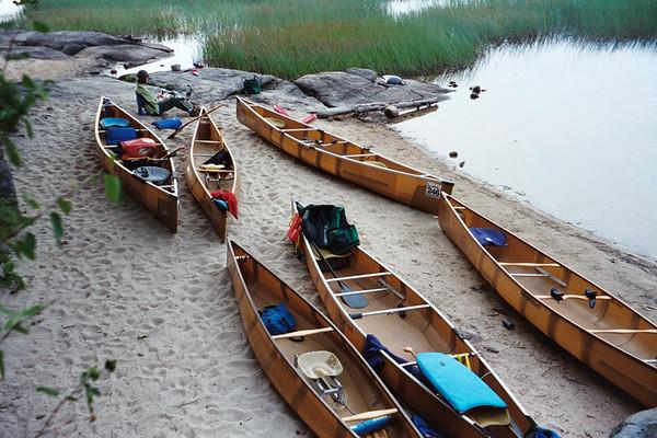 Wenonah fleet at Lake Lila