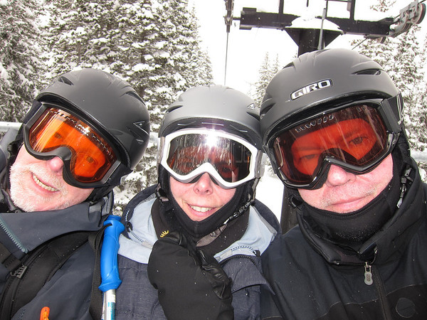 on the lift at Alta in 2012